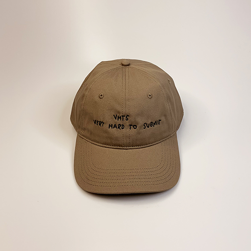 VHTS hand writing logo DAD hat